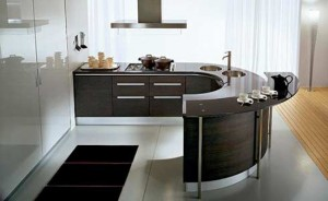 modern Round kitchen countertop from pedini super ergonomic technologies