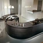 modern Round kitchen countertops from pedini super ergonomic technologie