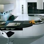 modern Round kitchen countertops from pedini super ergonomic technologies