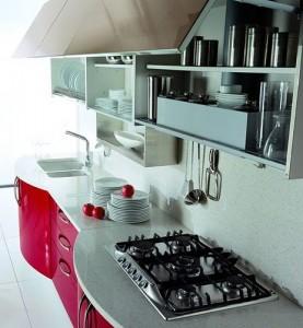modern cosmopolitan kitchen is minimalist