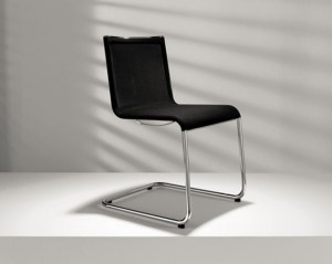 Modern dining chair design in black