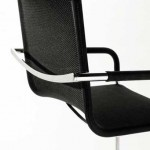 Modern dining chair design in black color