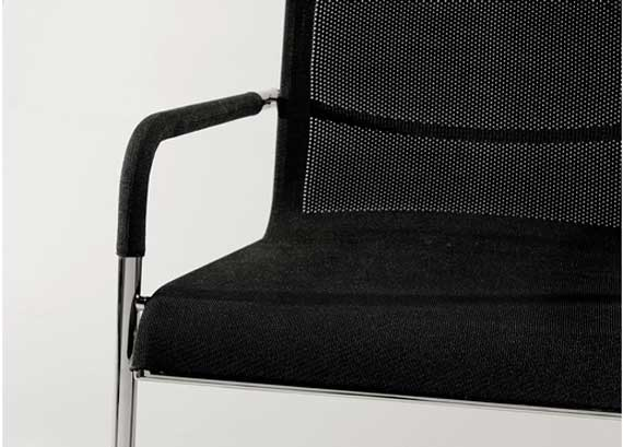Modern dining chair design in black color theme
