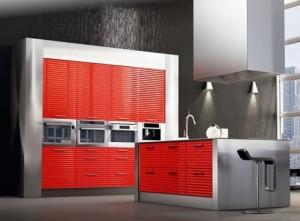 modern-european-red-kitchen-cabinets