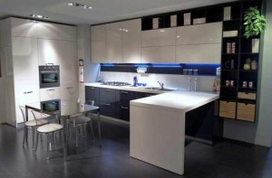 Modern Italy kitchen design with simple and attractive lighting
