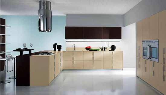 Modern kitchen design for black and white color combination