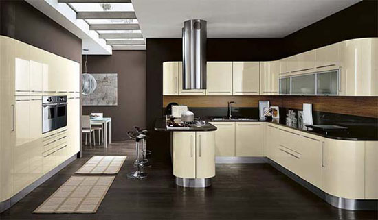modern kitchen lighting fixture venere curved by record cucine offers fresh mood