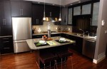 modern kitchen with island has functional cutting edge ways
