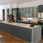 Modern remodeling kitchen design with simplicity and elegance combination