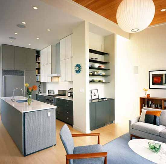 Modern remodeling kitchen design with simplicity combination