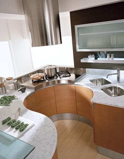 modern round countertop kitchens by pedini