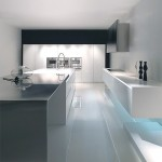 modern stainless steel white with blue LED light MK Style