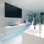 modern stainless steel white with blue LED light from MK Style