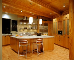 modern version of a country kitchen granite