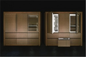 moderns Kitchen with microwave integrated and built-in cooler by Armani
