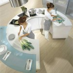 moderns Round kitchen countertops from pedini super ergonomic technologies