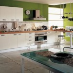 moderns kitchens accessories with natural wood tones is minimalist and geometric