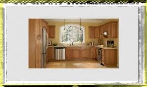 modest and plain kitchen ideas oak