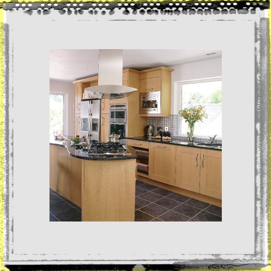 modest way kitchen ideas oak