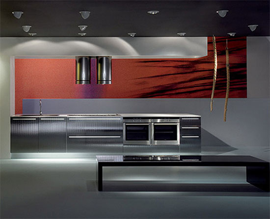 modular elements kitchen with unusual textures and striking surfaces look