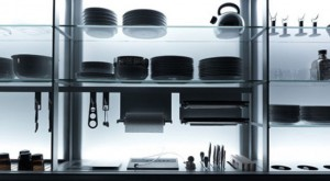 nano coated ergonomics kitchens use force of gravity technology by Valcucine kitchen