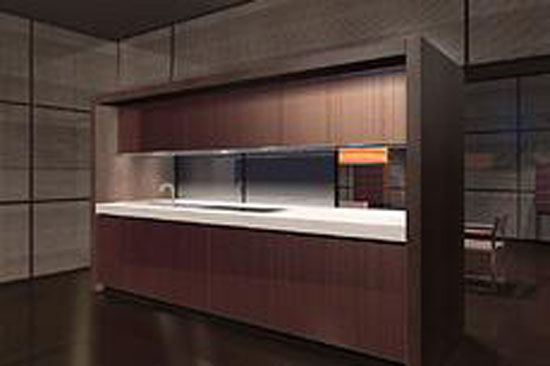 natural evolution of Bridge kitchen by Armani help you decorate your home