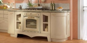 natural wood classic kitchen in glossy lacquered versions by Arrital Cucine