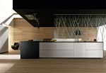 new Artematica Multiline Titanium Kitchen by Valcucine with the light reflecting panels
