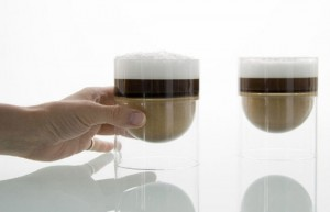 new concept and innovative design for a drinking glass from Molo Design