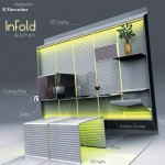 new concept of kitchens design with LED display adjustable chairs by Ciprian Frunzeanu