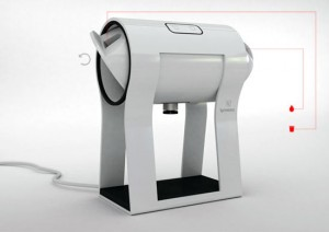 new innovation white Espresso maker on Four Legs by Drors Goldblum