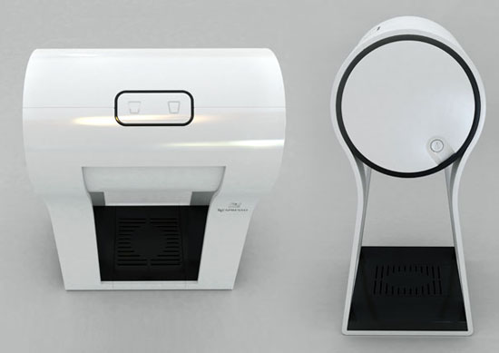 new innovation white Espresso makers on Four Legs by Dror Goldblum