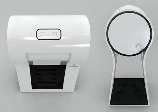 new innovation white Espresso makers on Four Legs by Dror Goldblum