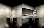 new kitchen design satin finish minimalist futuristic from Armani Casa