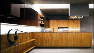 olive wood kitchen with glas beautiful black marble