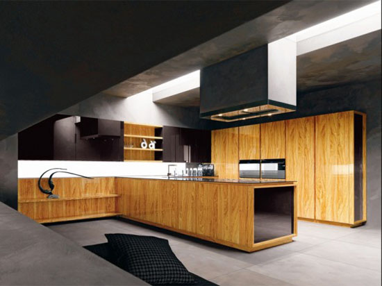 olive wood kitchen with glass beautiful black marble