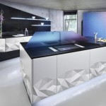 Origami inspired kitchen with amazing kitchen lighting from Estudiosat