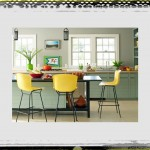 original_DD Allen yellow barstools kitchen soft green cabinets kitchen ideas colors