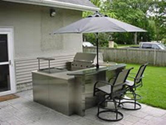 Backyard Kitchen Design Ideas : outdoor kitchen design ideas with shelter in your garden  Kitchen
