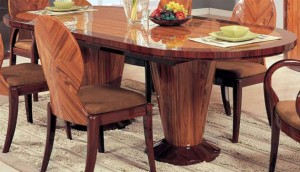 Oval dining table in classic and practical theme