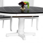 Oval dining table in classic and practical theme design
