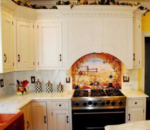 picture of kitchen backsplash ideas for restaurants by Linda Paul Studio