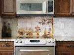 picture of kitchens backsplash ideas for restaurants by Linda Paul Studio