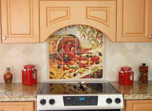 picture of kitchens backsplash ideas for restaurants by Linda Paul Studios