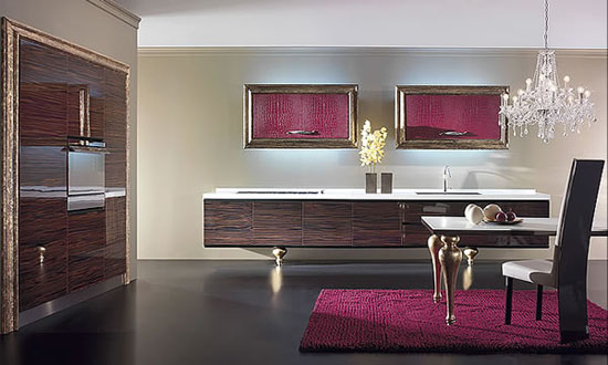 picture of modern kitchen from Must Italy with lights fixtures