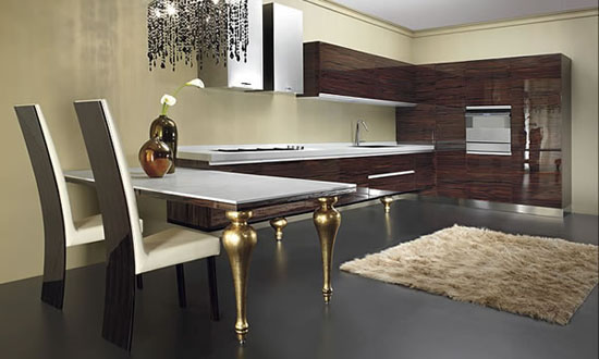 pictures of moderns kitchens from Must Italy with lights fixtures