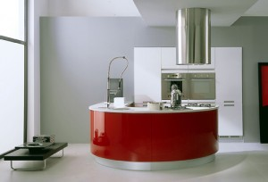 red round kitchen island picture ideas