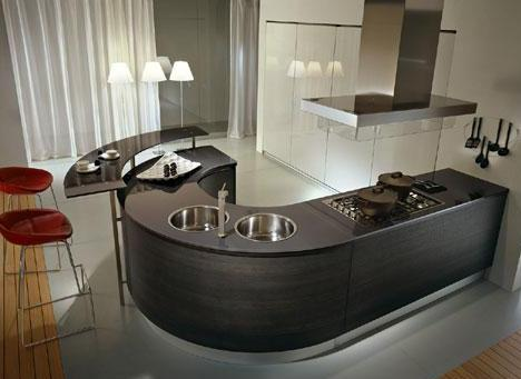 countertops in kitchen designs by pedini