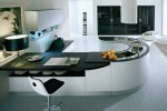 round kitchen countertop or small circular bar is ergonomic and stunning look