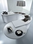 round kitchens countertop or small circular bar is ergonomics and stunning look